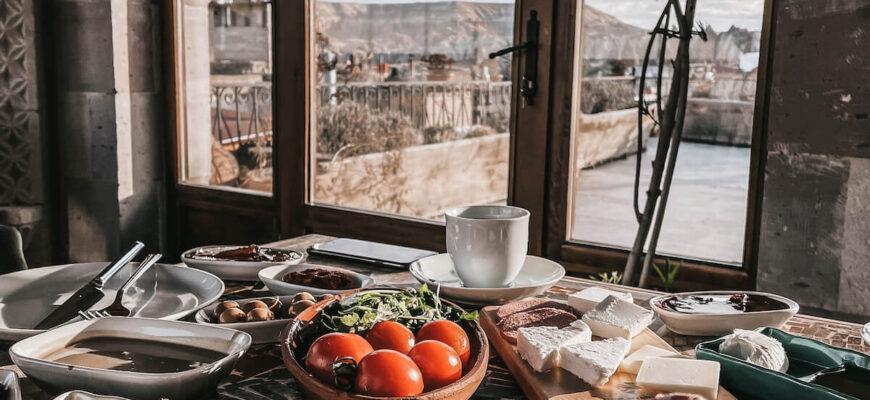 Типичный завтрак в Турецкой республике